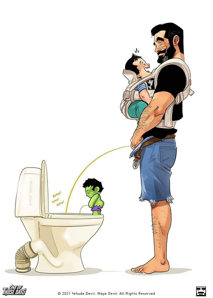 La familia Devir da la bienvenida a su hijo al mundo, y muestran cómo les va en 16 divertidos cómics