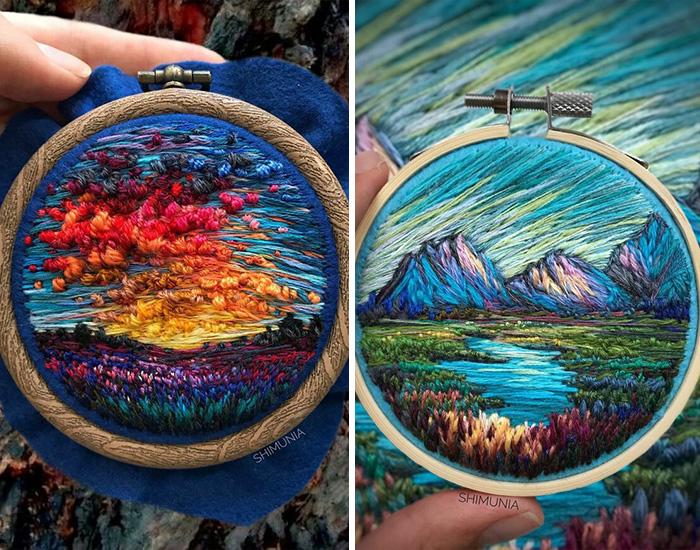 30 Coloridos bordados de la artista Vera Shimunia, con 280K seguidores en Instagram que adoran sus creaciones (Nuevas fotos)