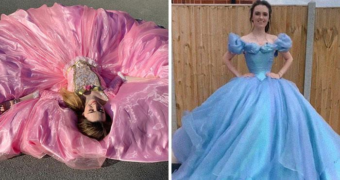 Esta artista recreó vestidos de Disney, Barbie y más, y se volvió un éxito en las redes (20 fotos)