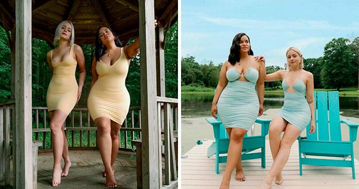 2 Amigas muestran cómo les queda la misma ropa en sus distintos tipos de cuerpo (30 nuevas fotos)