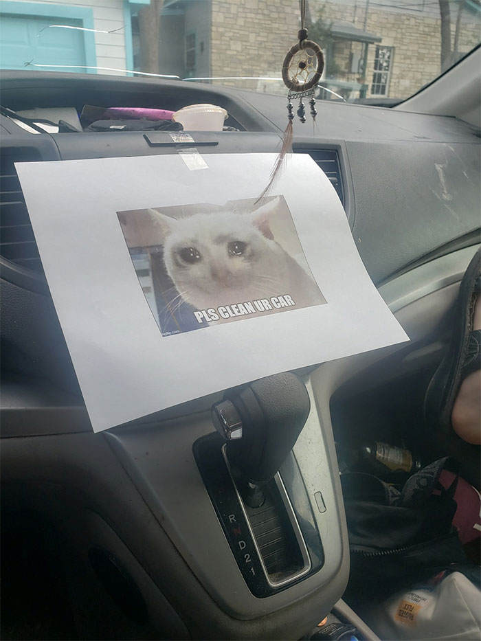 The Mechanic Left This In My Girlfriend's Car After Being Serviced... The Car Is Still Dirty
