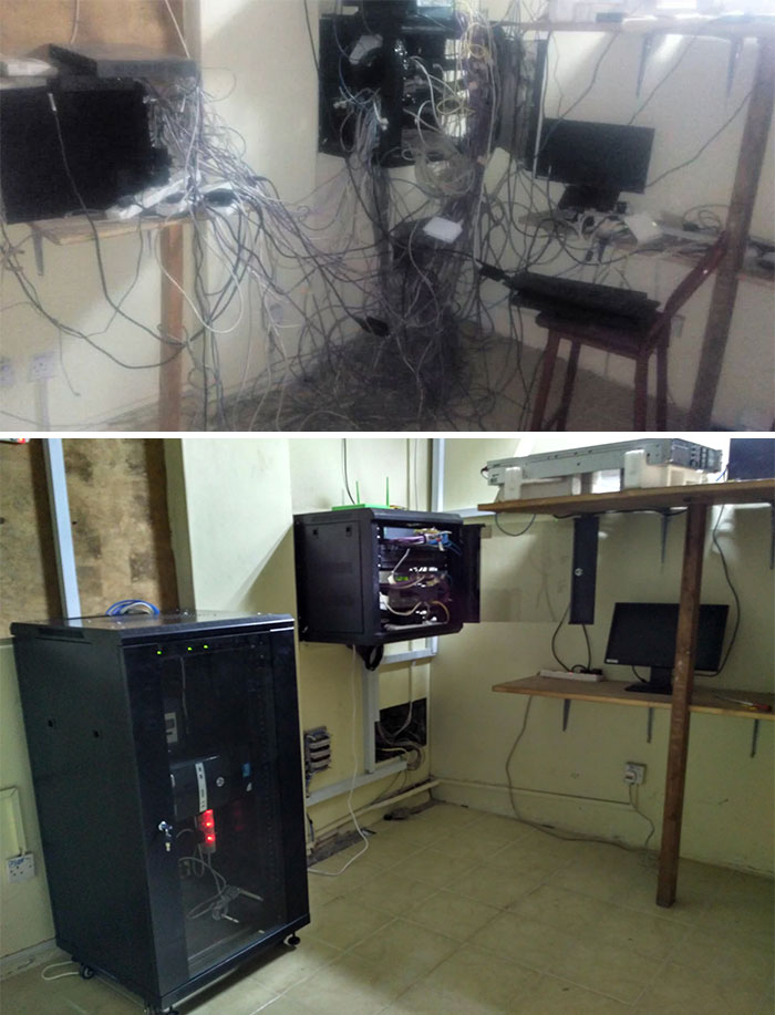 Antes y después. Pensé que estaba 100% preparado para un trabajo que conseguí en una institución de un pueblo remoto. Bueno, esto fue al menos lo que fui capaz de lograr