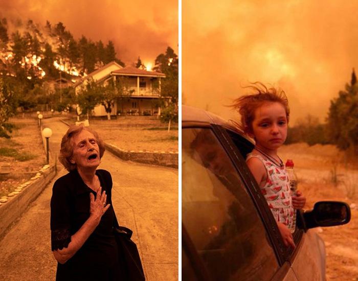 13 Momentos sin precedentes de los terribles incendios en la isla de Evia, Grecia