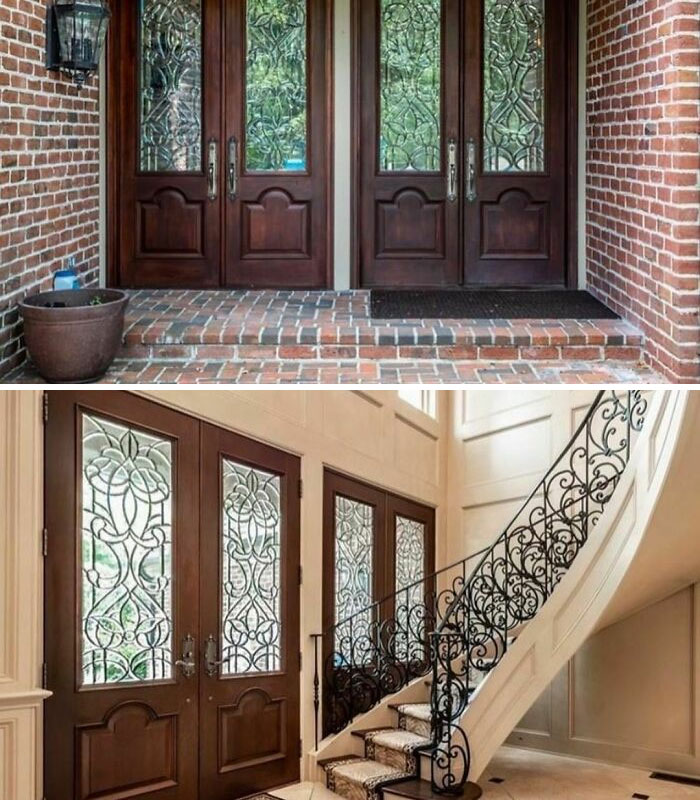 Prayers For The Contractor Who Had To Call These Homeowners And Explain They Needed A Second Set Of Front Doors Because... Math