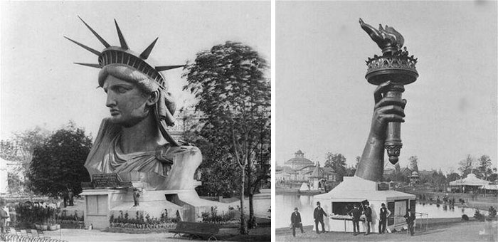 The Statue Of Liberty At The 1878 Paris World Fair Before Being Fully Assembled And Shipped To The United States