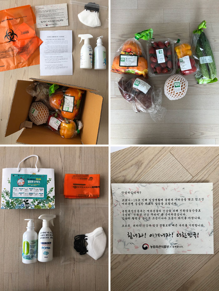 This Care Package The South Korean Government Sent Me While I'm In Quarantine Day 2