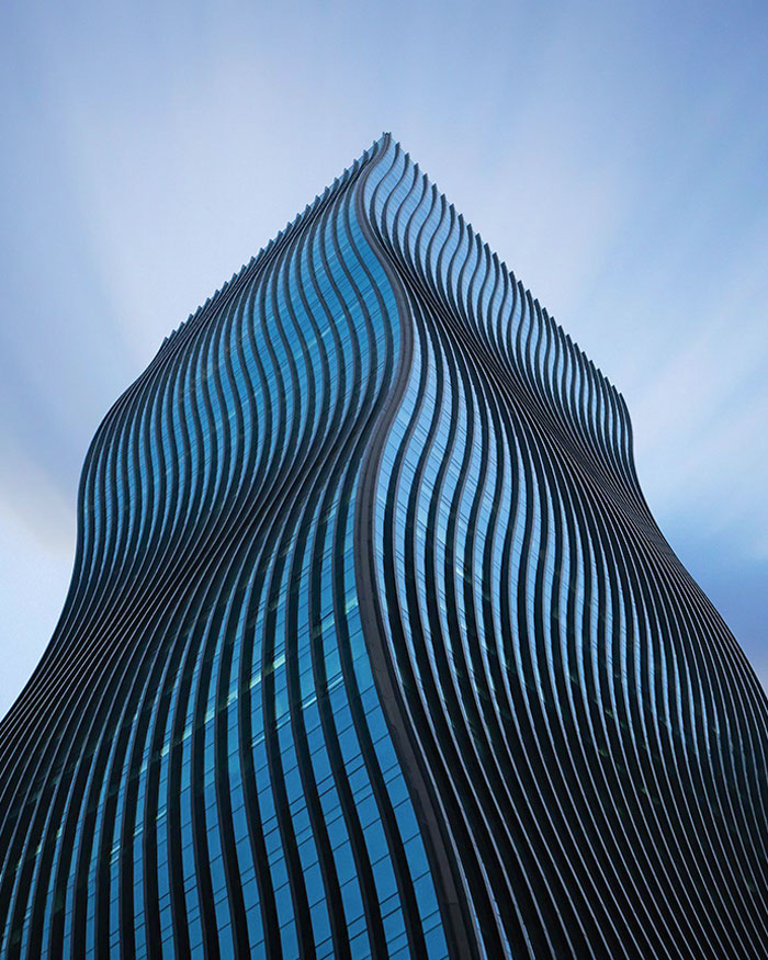The Wavy Building Called The GT Tower In Seoul, South Korea