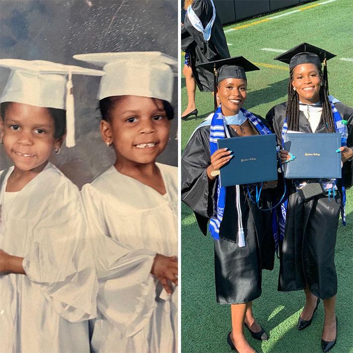 My Sister And I Graduating Headstart vs. Us Graduating College