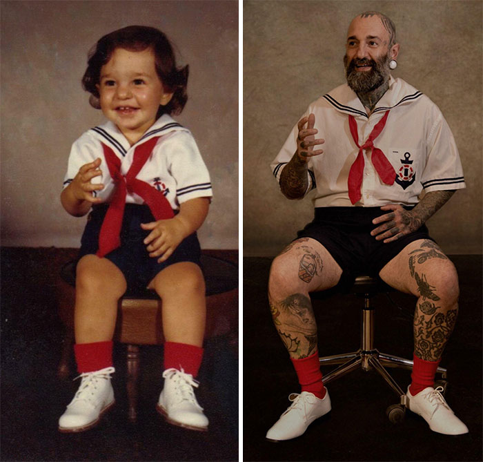 My Mother Made Me The 2 Year Old Outfit And The 39 Year Old Outfit