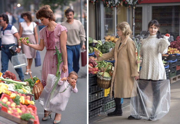 Picture On The Right Went Viral Recently. 33 Years Later The Same Protagonists Recreated It