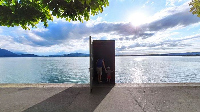 Entrance Of An Underwater Observatory In Lake Zug (Switzerland). I Took The Photo At The Weekend, Reminds Me Of The Truman Show