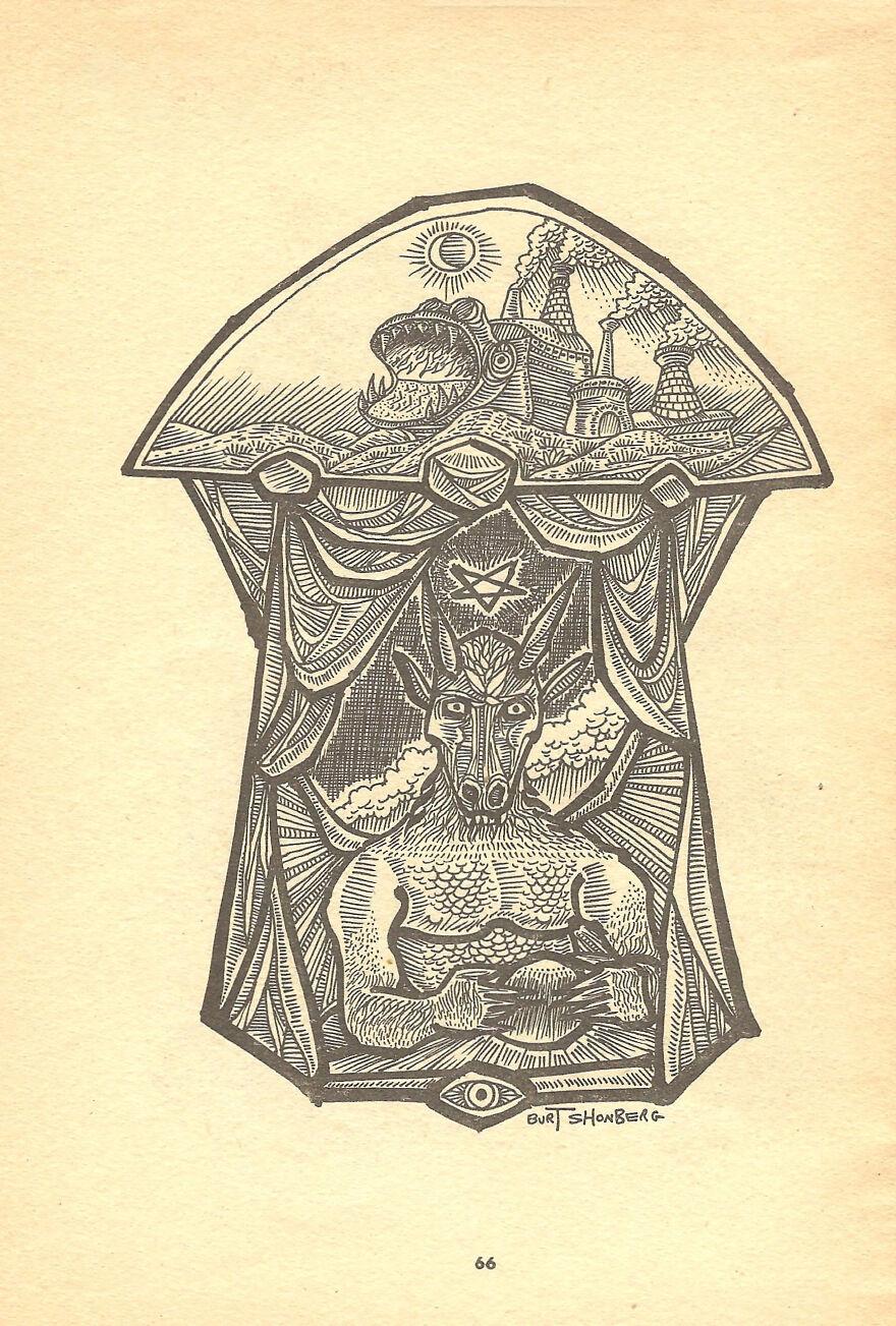 Burt Shonberg Drawing Made For Gamma Magazine Vol 1 No 2 1963