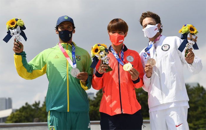 Los primeros medallistas de monopatín de la historia olímpica