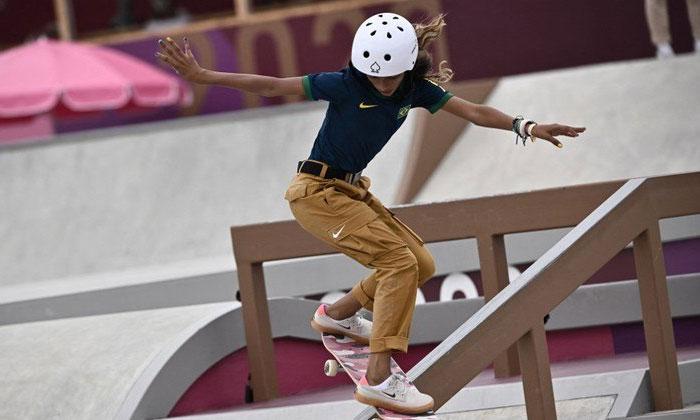 Rayssa Fadinha, de 13 años, la atleta brasileña más joven, y ahora medallista, de la historia de los Juegos Olímpicos
