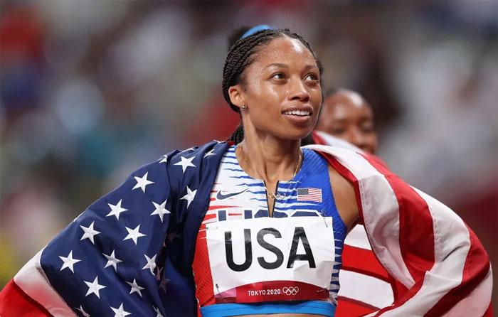 La velocista estadounidense Allyson Felix se convierte en la atleta estadounidense más condecorada en la historia del atletismo olímpico