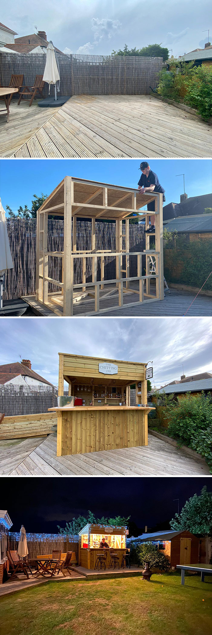 2020 Lockdown Garden Bar Build