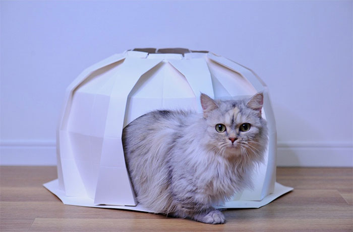 Origami-Inspired Pet Houses That Will Give Your Furry Friend A Stylish Abode Created By These Japanese Designers