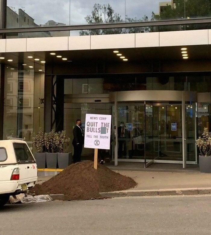 A Pile Of Manure Has Been Dumped Outside The Sydney Headquarters Of News Corp