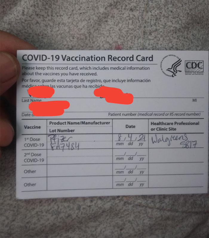 After My Parents Never Vaccinating Me And Raising Me To Not Believe In Vaccines I Decided Enough Was Enough And Got My Pfizer Covid Vaccine