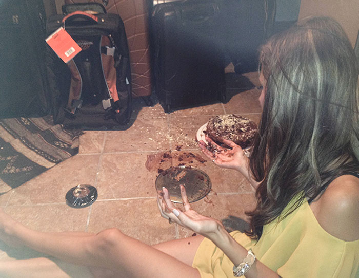 I Ate It Anyway. 4 Hours Of Baking, Half An Hour Before My Bday BBQ, Dropped On The Ground. And Every Piece Was Savored