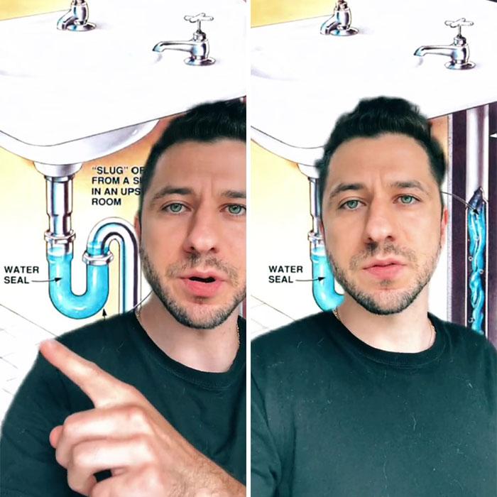 Un ingenioso diseño de fontanería que atrapa los gases peligrosos
