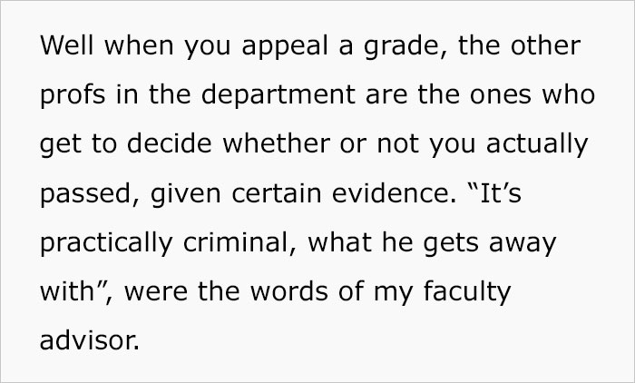 Student Gets Sweet Revenge On His Lazy Professor After He Unfairly Fails Half The Class