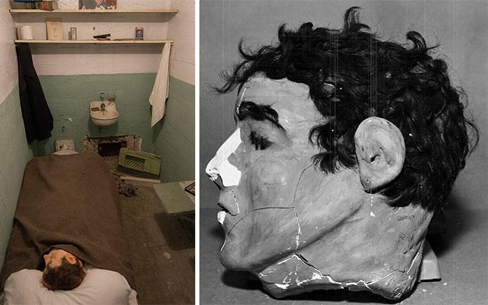 Las cabezas de papel maché hechas por Frank Morris, John Anglin y Clarence Anglin cuando escaparon de la prisión de Alcatraz