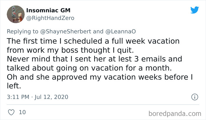 Workers Stories Asking Time Off