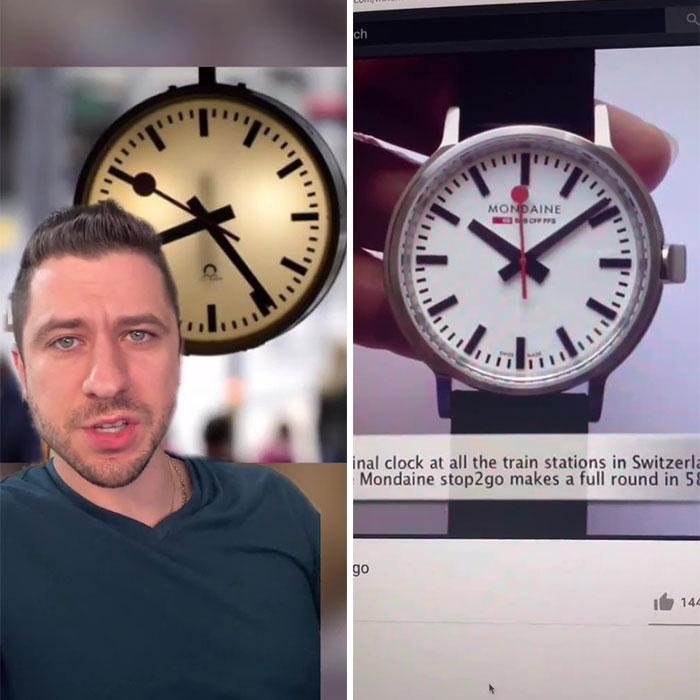 Secretos del diseño del reloj ferroviario de Suiza