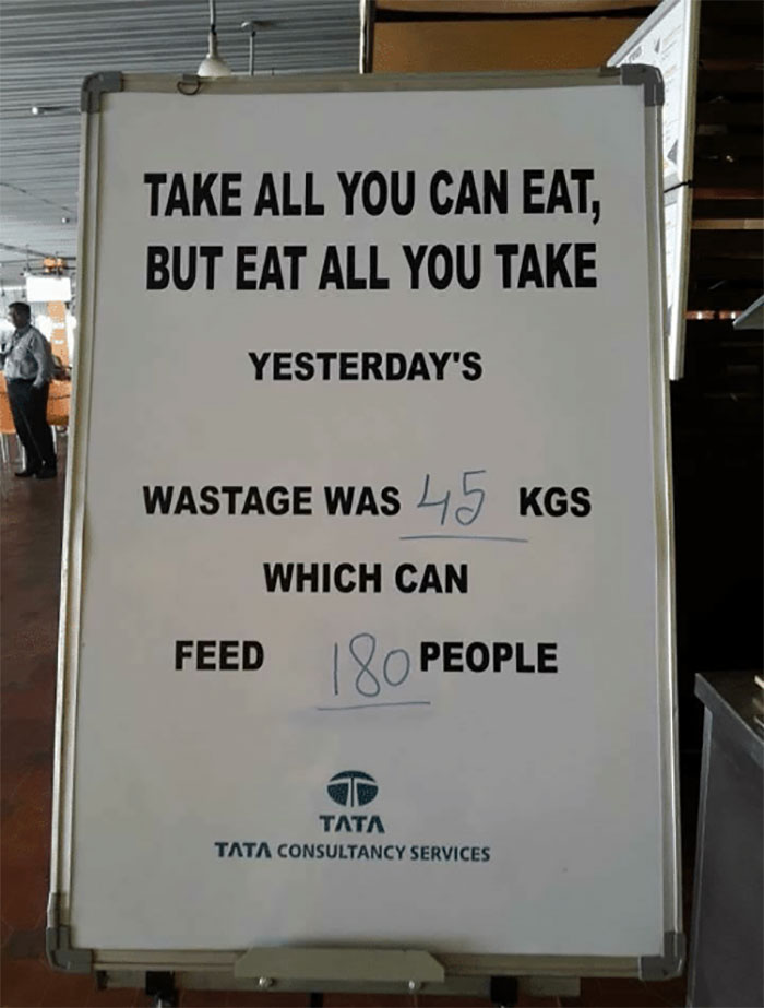 Restaurant Ask Customers To Stop Wasting Buffet Food