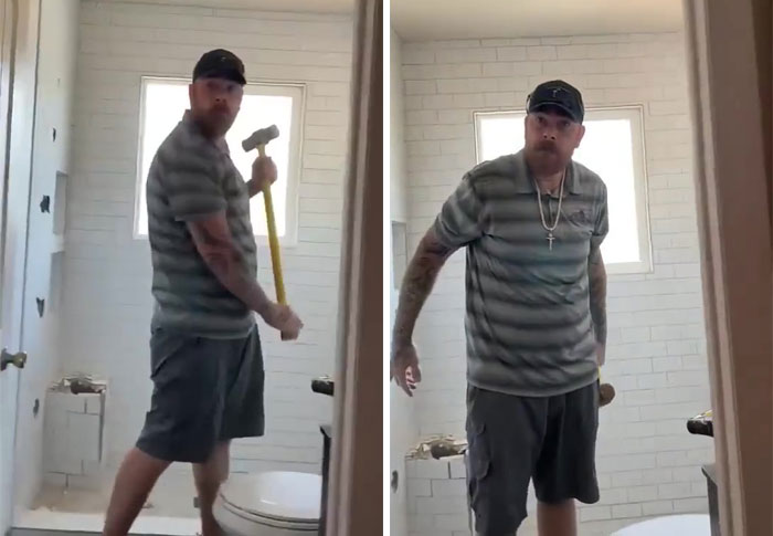 Customer Wouldn't Pay For Renovation So Contractor Destroys It All