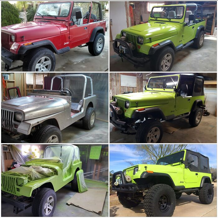 My Girlfriend And I Spent A Few Months Giving Her Jeep A Facelift
