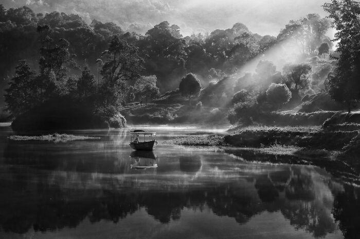 Vista matutina in situ de Patenggang por Robert Lie