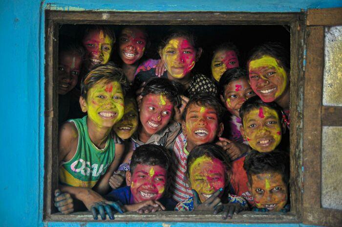 Caras de arco iris por Imon.photo