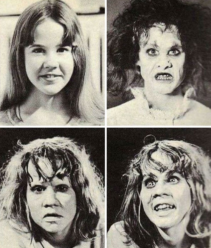 """Linda Blair's Makeup Tests For """"The Exorcist"""" (1973)"""