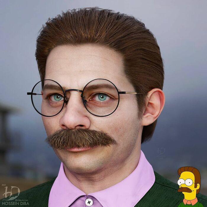 Ned Flanders de Los Simpsons