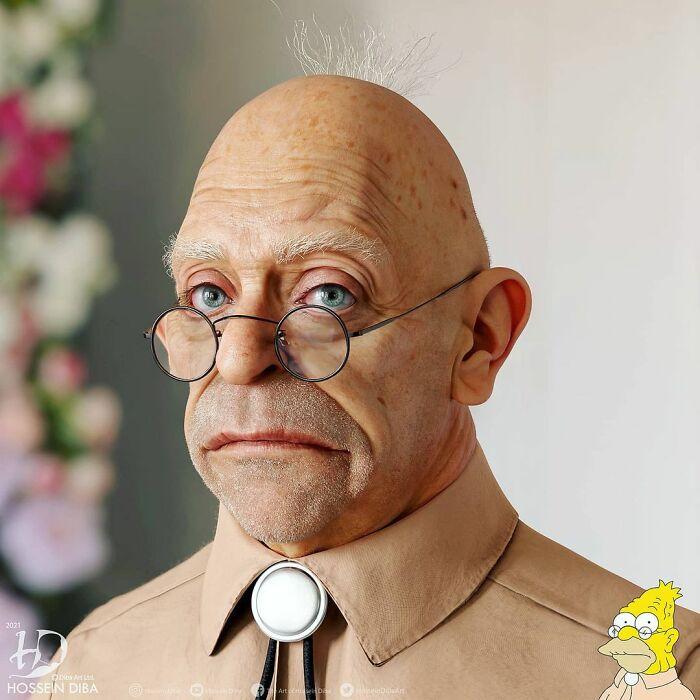 El abuelo Simpson de Los Simpsons