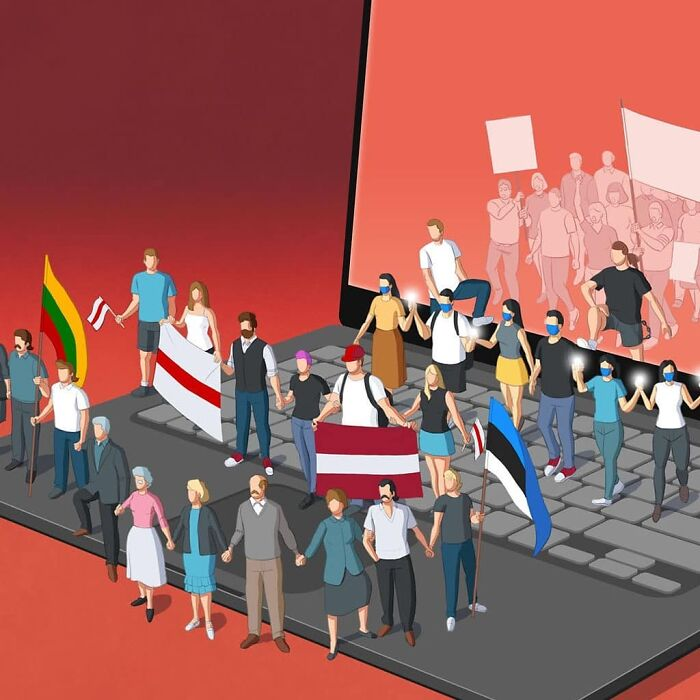 Manifestantes modernos