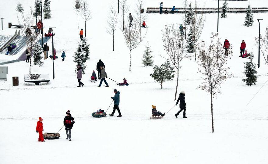 Urban Winter Recreation By Ludmila Stepnova