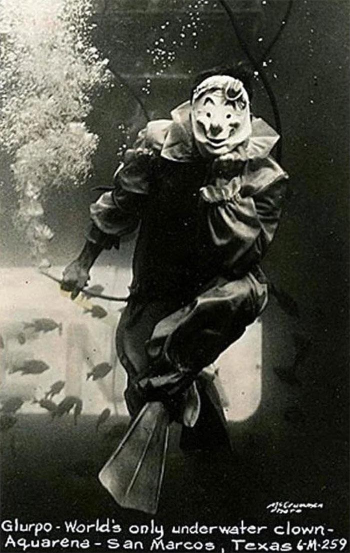 Glurpo, The World's Only Underwater Clown