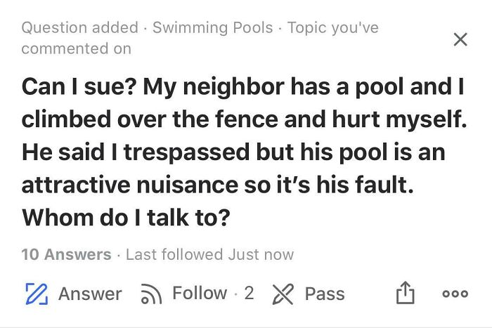 Sue Him For Building His House Next To You Too, He Had No Right To Do So!!!!!!