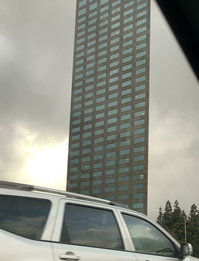 Drive Past This Building Every Morning, Finally Enough Traffic Today To Safely Take A Picture