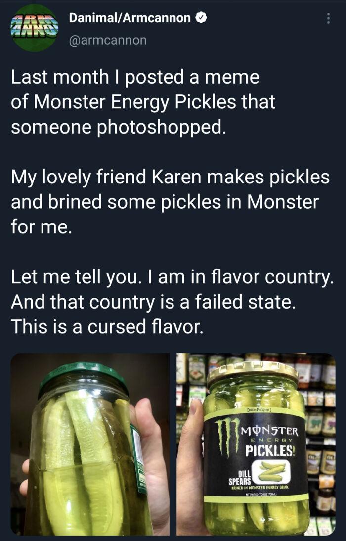 Pickles Brined In Monster