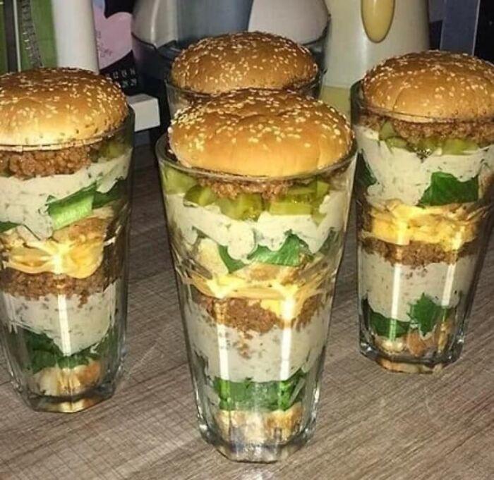 Gracias, odio las hamburguesas en un vaso