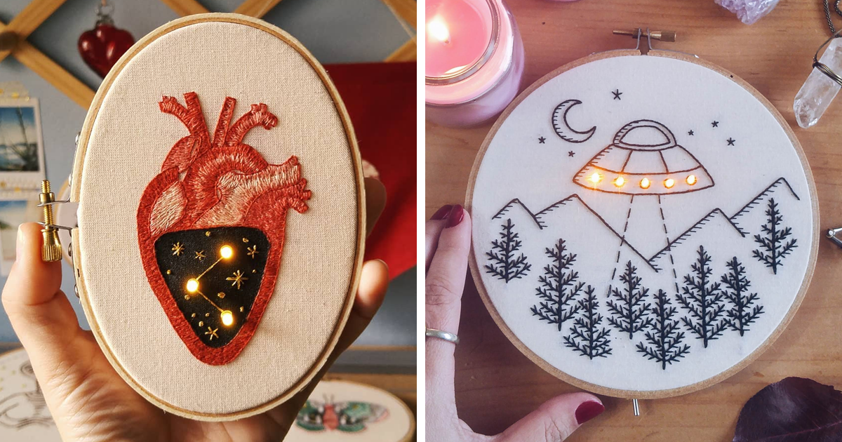 I Weave Lights Into My Embroidery Works Inspired By Stars And Night (23 Pics)