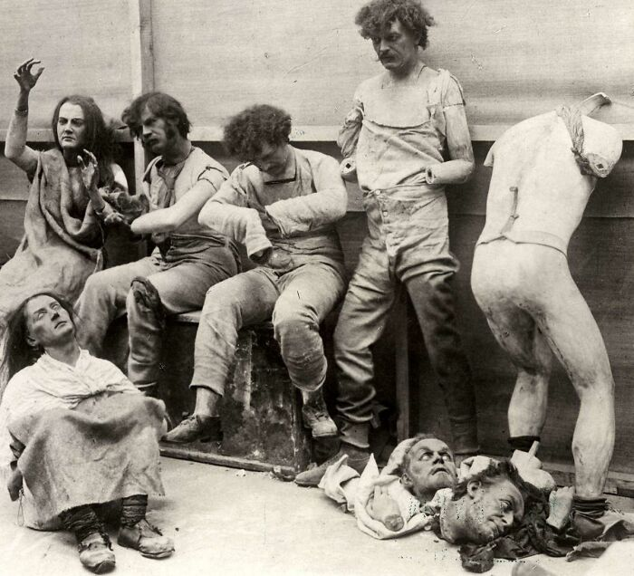 Melted Wax Figures Rescued From The 1925 Fire At Madam Tussaud's London Museum