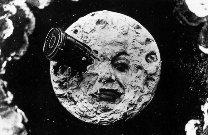 """The Moon From The French 1902 Movie """"A Trip To The Moon"""""""