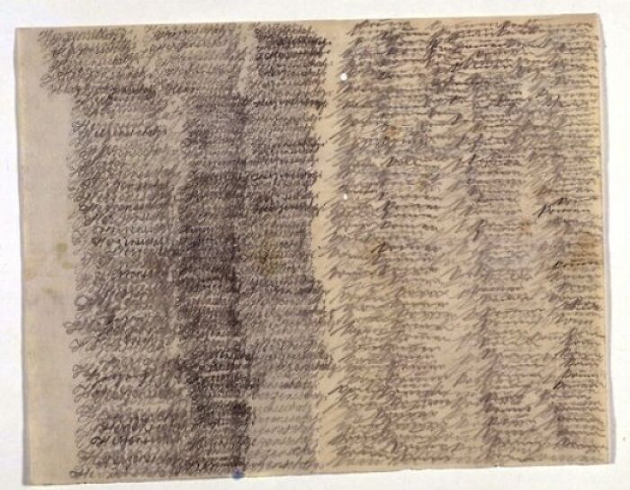 """A Letter From Schizophrenic Patient Emmy Hauck To Her Husband. It Consists Only Phrase """"Herzensschatzi Komm"""" (Darling Please Come) And """"Komm Komm Komm"""" (Come, Come, Come ) Repeated Over And Over"""