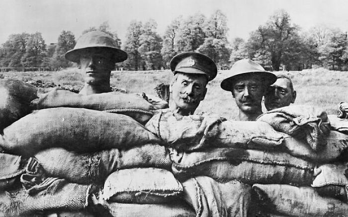 Some Paper Mache Heads From The First World War