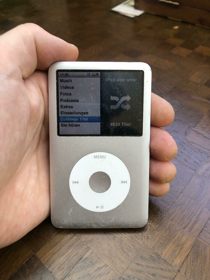 It's Time To Switch My Ipod Classic (2006) For Spotify. Have Been Using It Daily For 15 Years But Spotify Is Just Too Convenient. Rest In Peace Little One